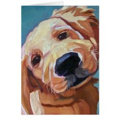 Golden Retrieve Puppy Greeting Card My Zazzle products are being promoted! 50% OFF GREETING CARDS Using promo code CYBRWEEKSALE