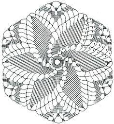 Crocheted motif no. Crochet Motif Patterns, Crochet Diagram, Crochet Chart, Thread Crochet, Filet Crochet, Crochet Dreamcatcher, Crochet Mandala, Crochet Flowers, Crochet Round