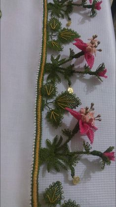 Arts And Crafts, Diy Crafts, Spring, Knots, Crochet, Lace, Creative, Dish Towels, Hand Embroidery