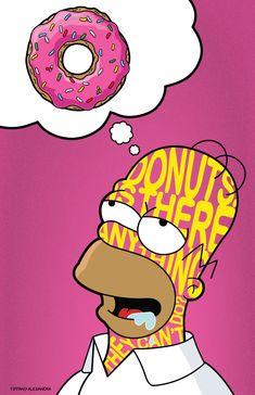 Homer Donuts The Simpsons Donuts Donuts desenho Homer Simpson Donuts, Homer Donuts, Bart Simpson, Donuts Donuts, Simpson Wallpaper Iphone, Cartoon Wallpaper, Iphone Wallpaper, Simpsons Donut, Simpsons Art