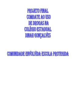 Projeto combate as_drogas