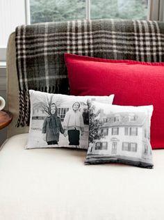 How To Make Vintage Photo Pillows