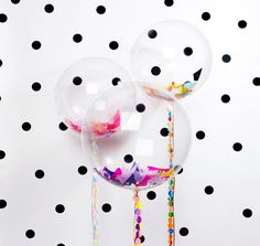 Clear Round Balloon (set of - Round Balloons - Balloon Decorations - Large Round Balloon - Transparent Balloon - Bubble Balloon Round Balloons, Bubble Balloons, Bubbles, Transparent Balloons, Balloon Decorations, Confetti, Valentines Day, Crystals