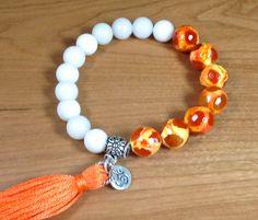 Yoga Om Tassel Bracelet Tassel Om Bracelet by LarisJewelryDesigns