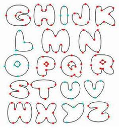 103 Best Free Alphabet Bubble Template Images Drawings Hand