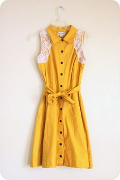 Refashioned from a $4 Goodwill dress! See more at http://fourtyninedresses.blogspot.com.