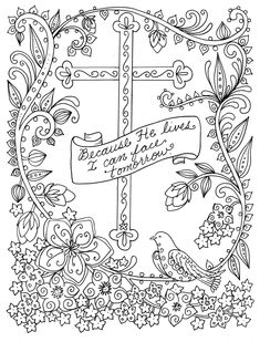 5 Digital Pages Of Crosses To Color Instant Download Digi Stamps