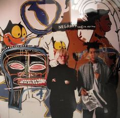 Jean-Michel Basquiat and Andy Warhol Collaboration (standing)  Tseng Kwong Chi   1985