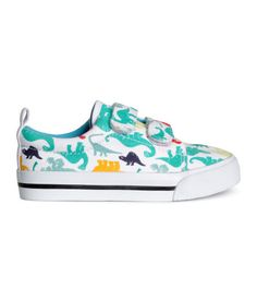 Check this out! Sneakers with a printed pattern, Velcro fasteners at front, and rubber soles. - Visit hm.com to see more.