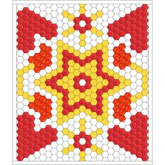 "Free hexagon quilt idea,""LOVE ME TO THE STARS"", design by Dorte Rasmussen Denmark"