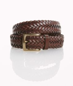 Shop Leather Braid Belt at vineyard vines