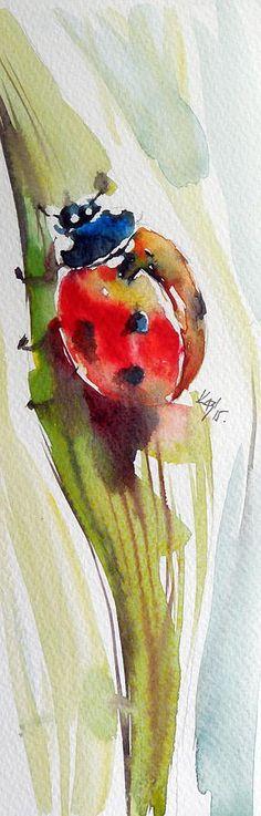 Ladybird Painting by Kovacs Anna Brigitta