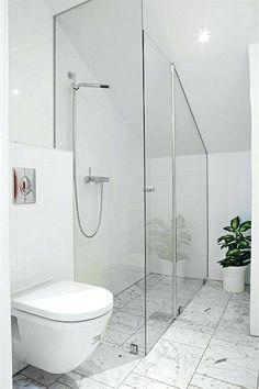 Splendid Narrow attic bedroom ideas,Attic bathroom plans and Attic renovation beams. Sloped Ceiling Bathroom, Loft Bathroom, Slanted Ceiling, Upstairs Bathrooms, Laundry In Bathroom, Bathroom Layout, Bathroom Toilets, Small Bathroom, Bathroom Plans