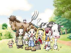 A Wonderful Life - Celia, Farmer, Muffy & Nami, with animals.