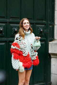 ストリートスナップパリ - Chiara ferragniさん