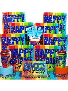 Find A Year To Celebrate Birthday Deluxe Kit and other All Adult Parties party supplies. The most popular party Supplies and Decorations, all available at wholesale prices! 18 Birthday Party Decorations, Adult Party Themes, 90th Birthday Parties, Happy 50th Birthday, Birthday Box, Milestone Birthdays, Party Supplies, Kit, Costume Supercenter