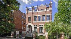 Chicago brick home with rooftop trellis, Milbury Architects, Ltd.