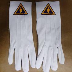 Freemason Masonic Royal and Select Mason Dress Gloves