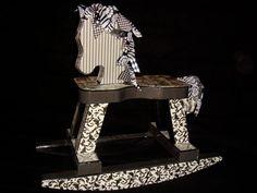 Elegant Black and White Rocking Horse $75