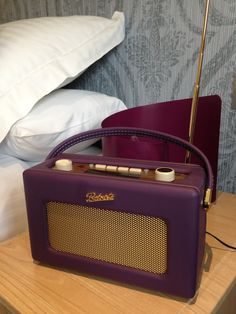 Colour coordinated Roberts radios in our new boutique bedrooms