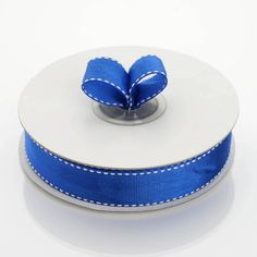 x 25 yards Stitched Grosgrain Ribbon - Royal Blue Royal Blue Wedding Decorations, Ribbon Decorations, Blue Tablecloth, Pew Bows, Diy Party Supplies, Personalized Napkins, Blue Gift, Backdrops For Parties, Notebooks