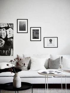 An elegant, white Swedish home