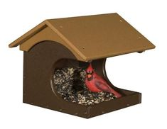 Eco Friendly Cove Side Recycled Plastic Bird Feeder This poly bird feeder carves out a cute little cove for feathered friends to visit. Easy to clean and ultra durable. #birdfeeder