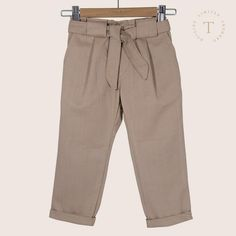 Aubrey Pant by & co Boutique Easy Wear, Belt Tying, Seaside, Organic Cotton, Khaki Pants, Pure Products, Boutique, Stylish, Clothing