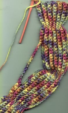 Crocheted winter gear: Bev's Marvelous Mittens, Warm Canadian Toque, Bev's Simple Sock Yarn Headband, Bev's Easy Scarf, Bev's Winter Slippers