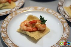 X-MAS Tapas German Style, no selection - eat all, e.g. Garnelenravioli mit gebratenen Scampi