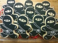 Ninja Decorated Sugar Cookies by DecoratedDesserts on Etsy, $30.00