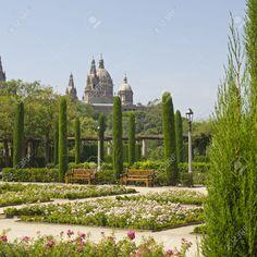 Barcelona, Gardens in Montjuic - Catalonia