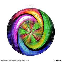 Abstract Perfection 6 Dartboard