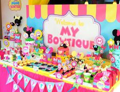 Krown Kreations & Celebrations 's Birthday / Minnie Mouse - Photo Gallery at Catch My Party Mickey Mouse Clubhouse Birthday, Mickey Mouse Birthday, Minnie Mouse Party, 3rd Birthday Parties, Baby Birthday, Birthday Party Decorations, Birthday Ideas, Minnie Golden, Backdrops For Parties