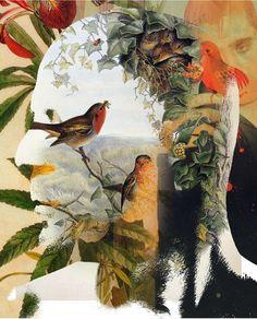 """Antonio Mora - """"Un hombre con pájaros en la cabeza"""". vinilo impreso sobre cartón, disponible en varios tamaños. # Decoración # Casa # Diseño. Para Solicitar información: pil4r@routetoart.com"""