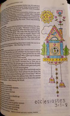 Bible Journaling Ecclesiastes 3:1-8