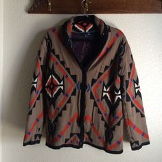 F21 Aztec print, button down, collared sweater | Large, worn only once. Forever 21 Sweaters Cardigans