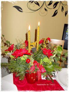 O ozdobach wigilijnych i nie tylko Candles, Table Decorations, Handmade, Furniture, Home Decor, Hand Made, Decoration Home, Room Decor, Candy