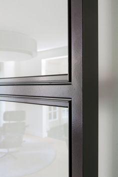 black frame door details