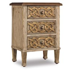 I like the Celtic knots on the drawers....