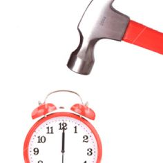Dear alarm clock.  I am sorry I hit you this morning.  I have anger issues.  We need counseling.  No, wait.  Its you, not me.  Wake me up again I bring hammer