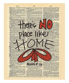 Look at this #zulilyfind! Wizard of Oz 'No Place Like Home' Dictionary Print #zulilyfinds