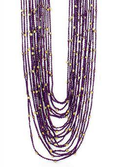 ZAD Multi Strand Thread & Bead Necklace