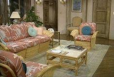 The living room from the Golden Girls set. Sophia, Dorothy, Blanche and Rose. Golden Girls House, Miami Houses, Vintage Interiors, Girl Decor, I Love Girls, Dream Decor, Living Room Sets, Living Area, Looks Cool