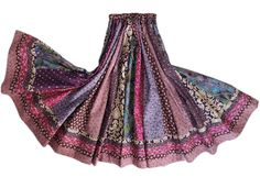 Long Panel Gypsy Patchwork Skirt by 1000Colors on Etsy