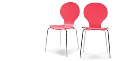 Set di due sedie da tavoloKitsch, rosso pastello | made.com