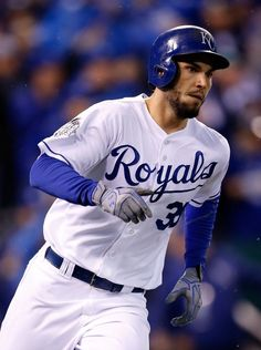 Eric Hosmer, KC///  WS Game 2 v NYM, Oct 28, 2015   [sean m haffey/getty images]