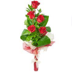 Артикул: 035-130 Состав букета: 5 роз красного цвета, декоративная зелень, оформление Размер: Высота букета 60 см Роза: Выращенная в Украине http://rose.org.ua/bukety-iz-roz/1225-stupenka.html #букеты #букетроз #доставкацветов #RoseLife #flowers #SendFlowers #купитьрозы #заказатьрозы   #розыпоштучно #доставкацветовкиев #доставкацветовукраина #срочнаядоставка #заказатьрозыкиев