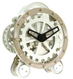 "$55 :: RubN'buff bronze, copper, brass & this ""Circular Gear Clock"" would be very steampunk;)"