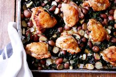 One-Pan Dinner: Roasted Chicken Thighs with Potatoes & KaleNicki Sizemore